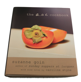 Gift ideas for food and wine lovers, The A.O.C Cookbook, Suzanne Goin, Knoff publishing, gift bottles, cheese pairings