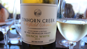 Tinhorn Creek Vineyards, Sandra Oldfield, Okanagan Valley, BC wine, Diamondback Vineyard, Black Sage Bench, 2 Bench White