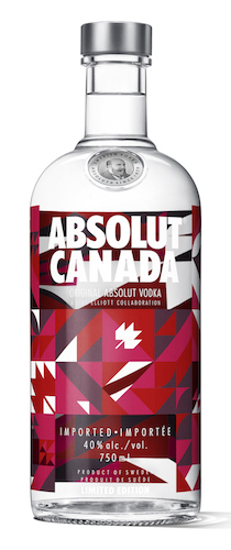 Absolut bottle Canada 150th, Absolut quilt bottle